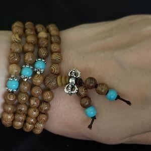 Jewelry - NWT Brown Mala Prayer Bead Bracelet